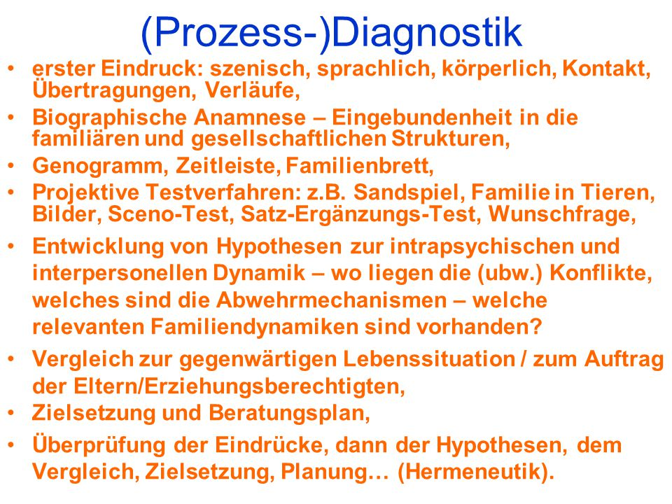 (Prozess-)Diagnostik