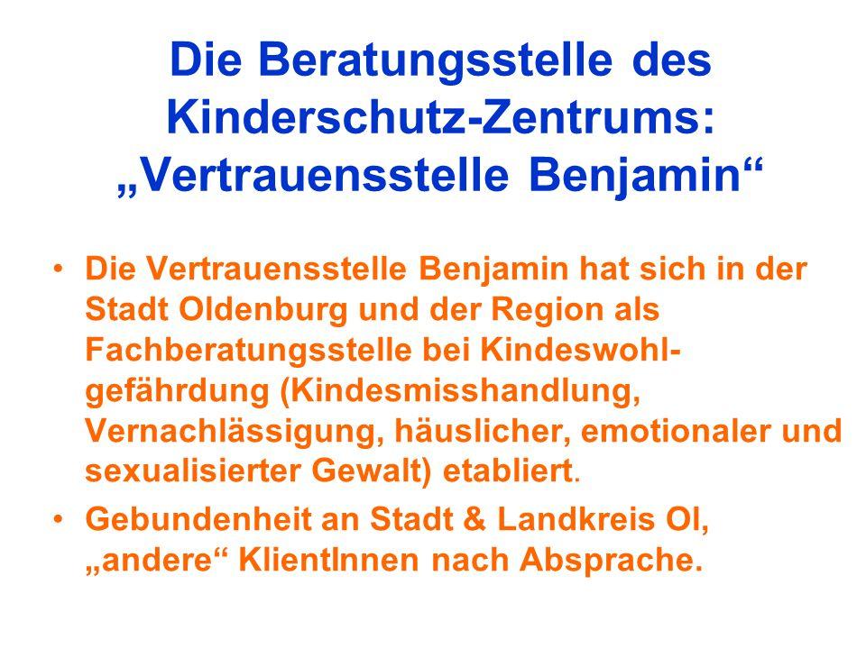 """Die Beratungsstelle des Kinderschutz-Zentrums: """"Vertrauensstelle Benjamin"""