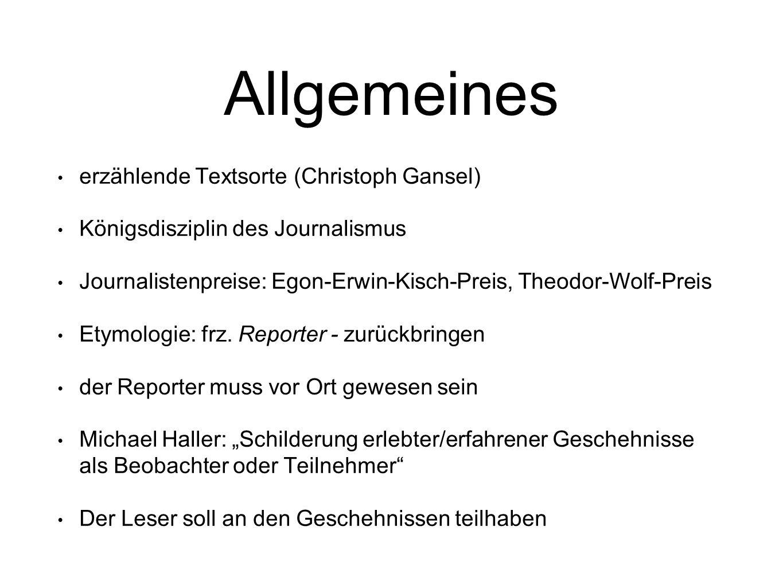 Allgemeines erzählende Textsorte (Christoph Gansel)