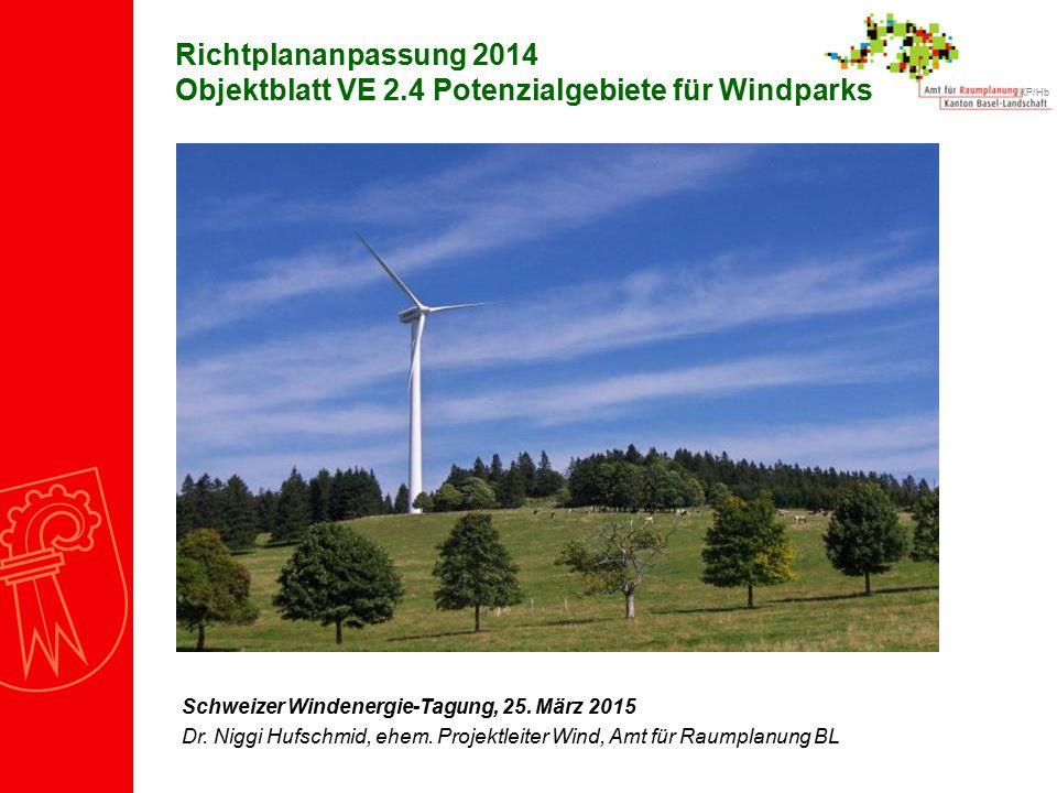 Richtplananpassung 2014 Objektblatt VE 2