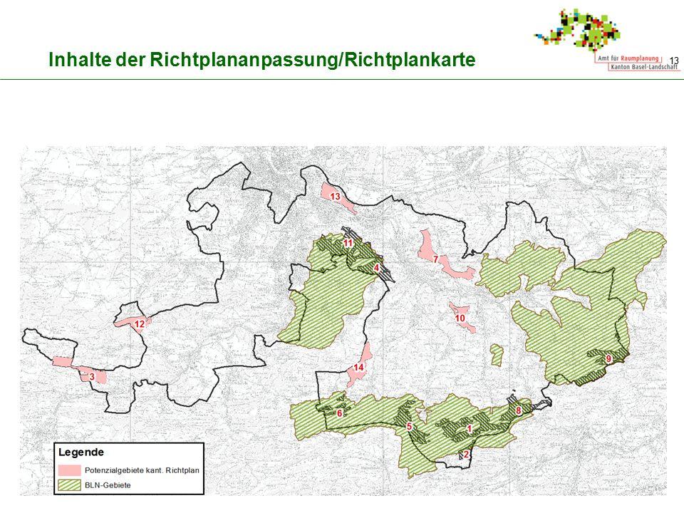 Inhalte der Richtplananpassung/Richtplankarte