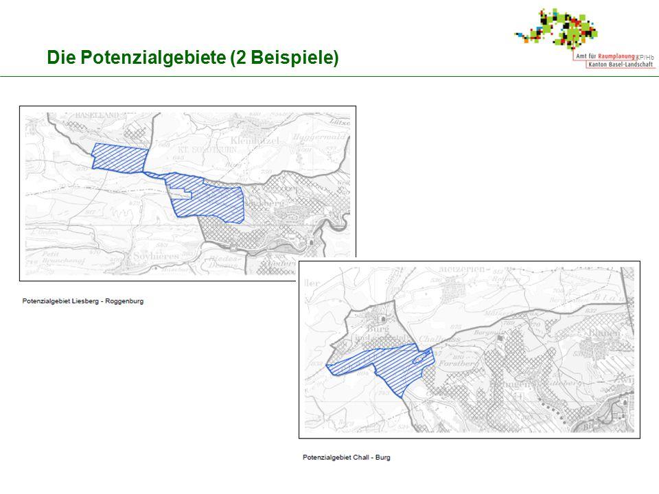 Die Potenzialgebiete (2 Beispiele)