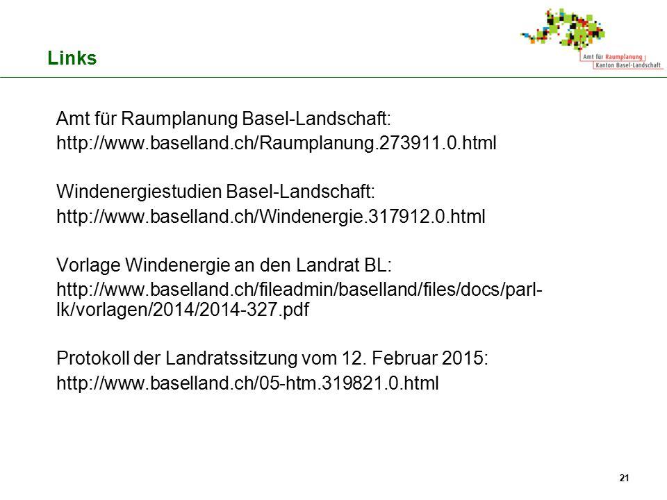 Amt für Raumplanung Basel-Landschaft: