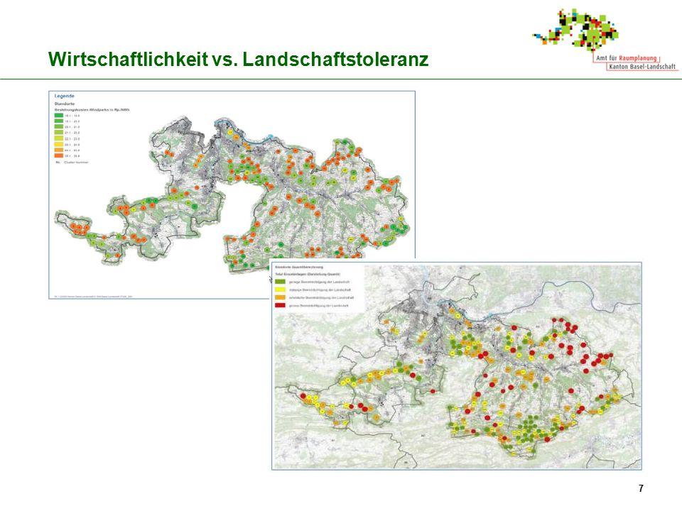 Wirtschaftlichkeit vs. Landschaftstoleranz