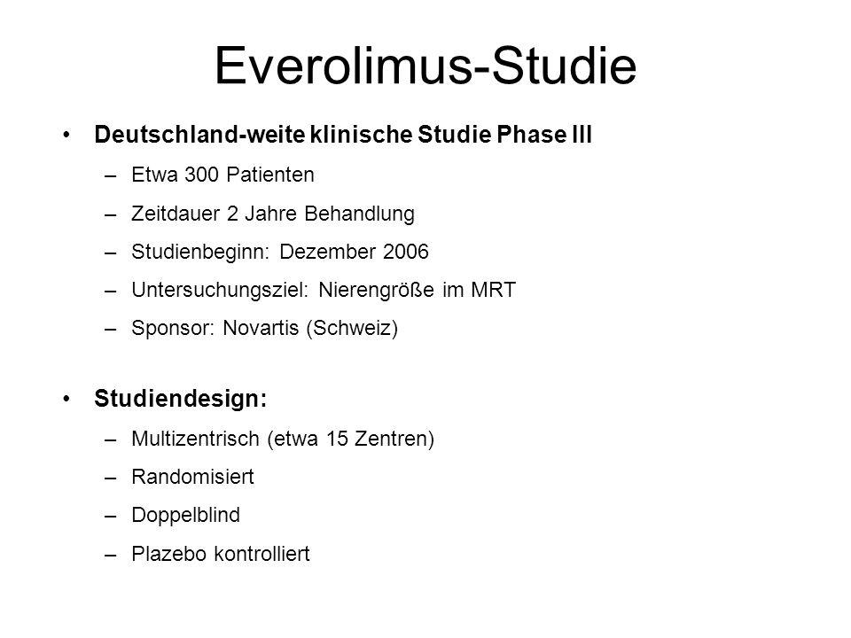 Everolimus-Studie Deutschland-weite klinische Studie Phase III