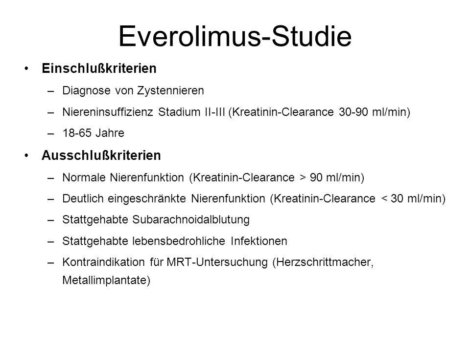 Everolimus-Studie Einschlußkriterien Ausschlußkriterien