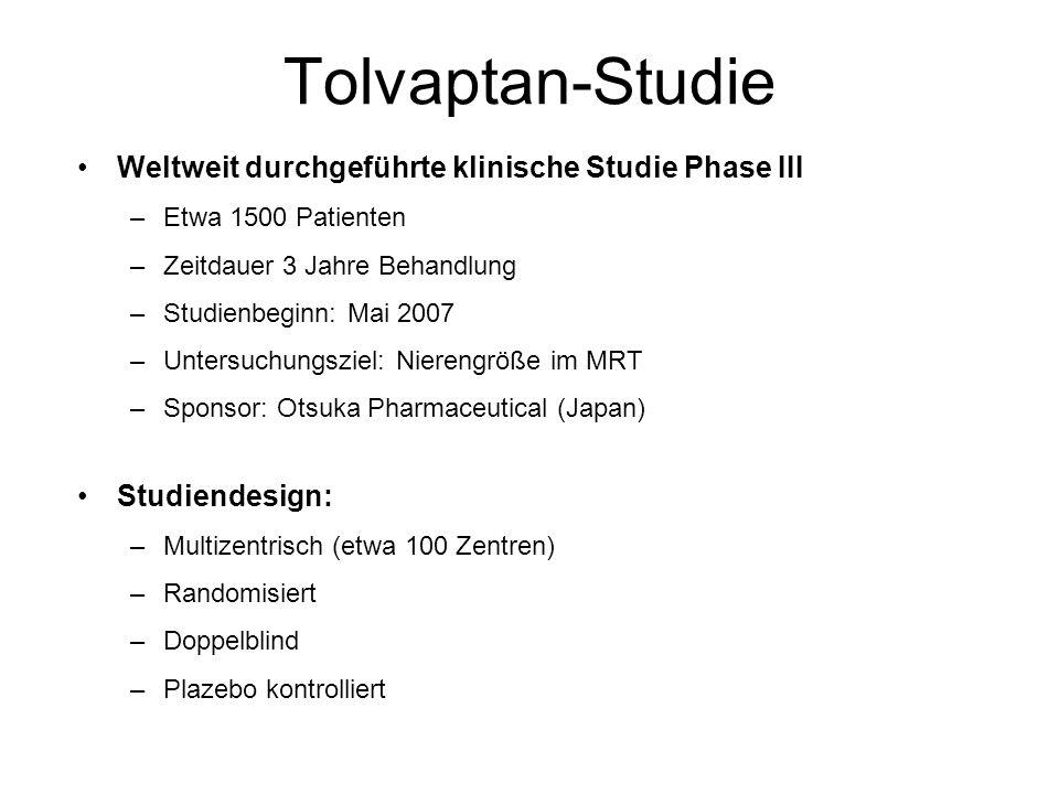 Tolvaptan-Studie Weltweit durchgeführte klinische Studie Phase III