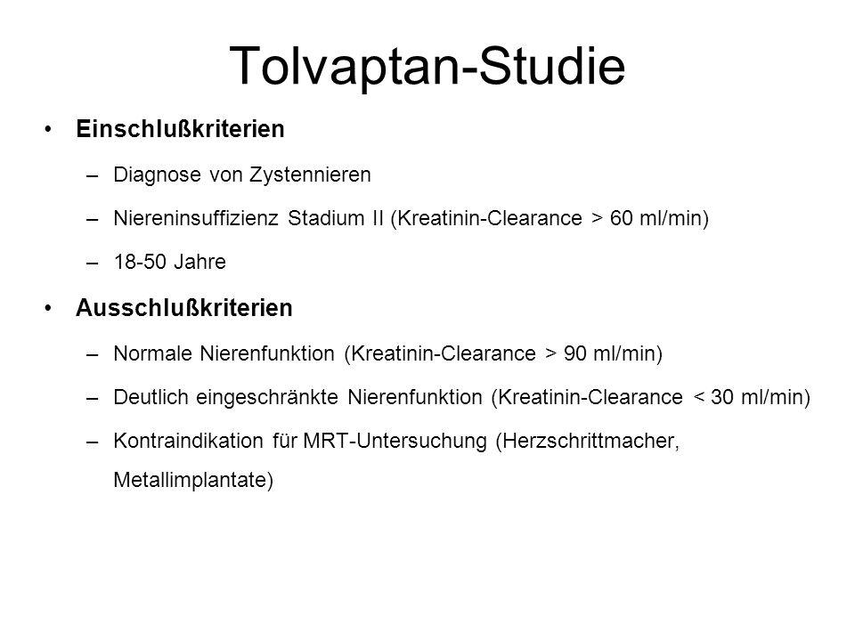 Tolvaptan-Studie Einschlußkriterien Ausschlußkriterien