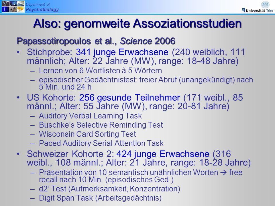 Also: genomweite Assoziationsstudien