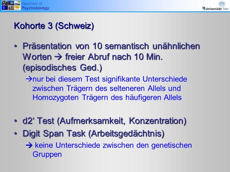 d2' Test (Aufmerksamkeit, Konzentration)