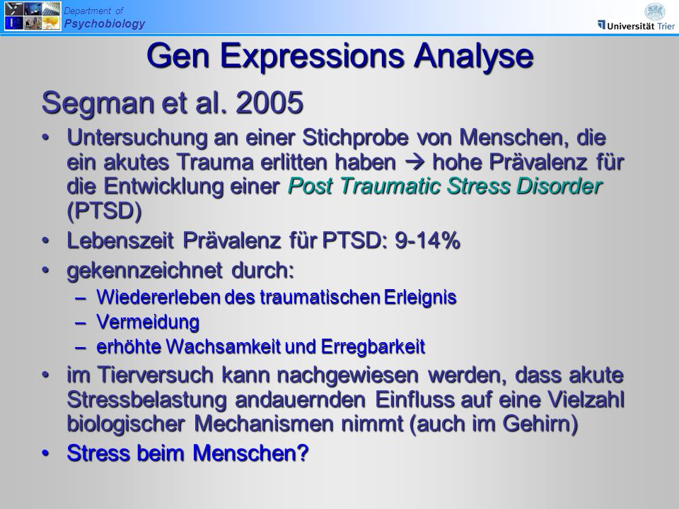 Gen Expressions Analyse