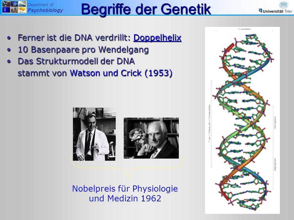 Nobelpreis für Physiologie und Medizin 1962