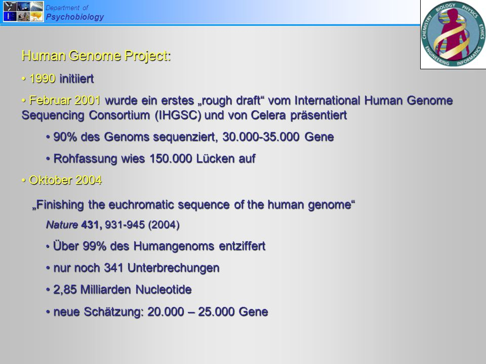 Human Genome Project: 1990 initiiert