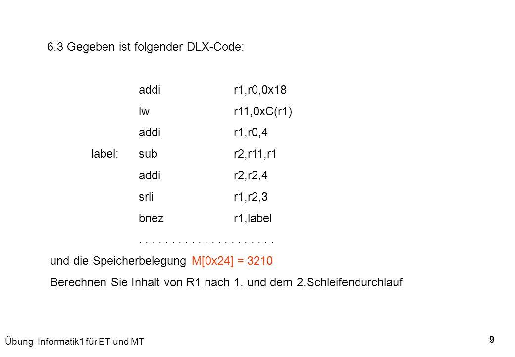 6.3 Gegeben ist folgender DLX-Code: