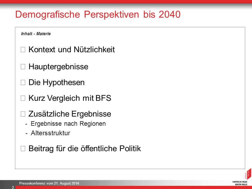 Demografische Perspektiven bis 2040