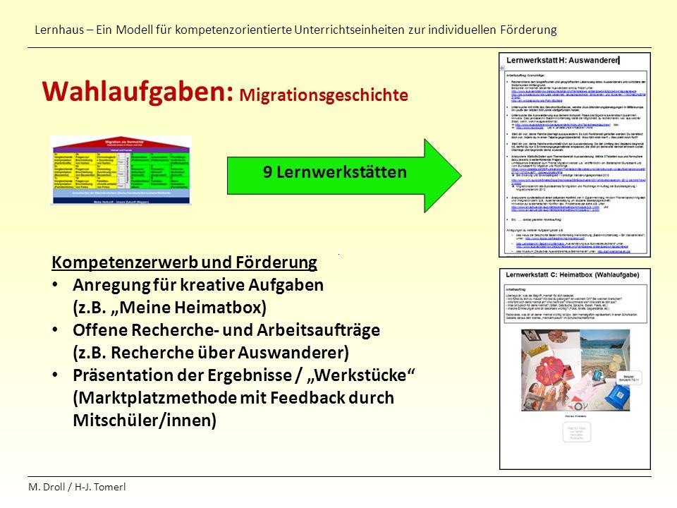 Wahlaufgaben: Migrationsgeschichte