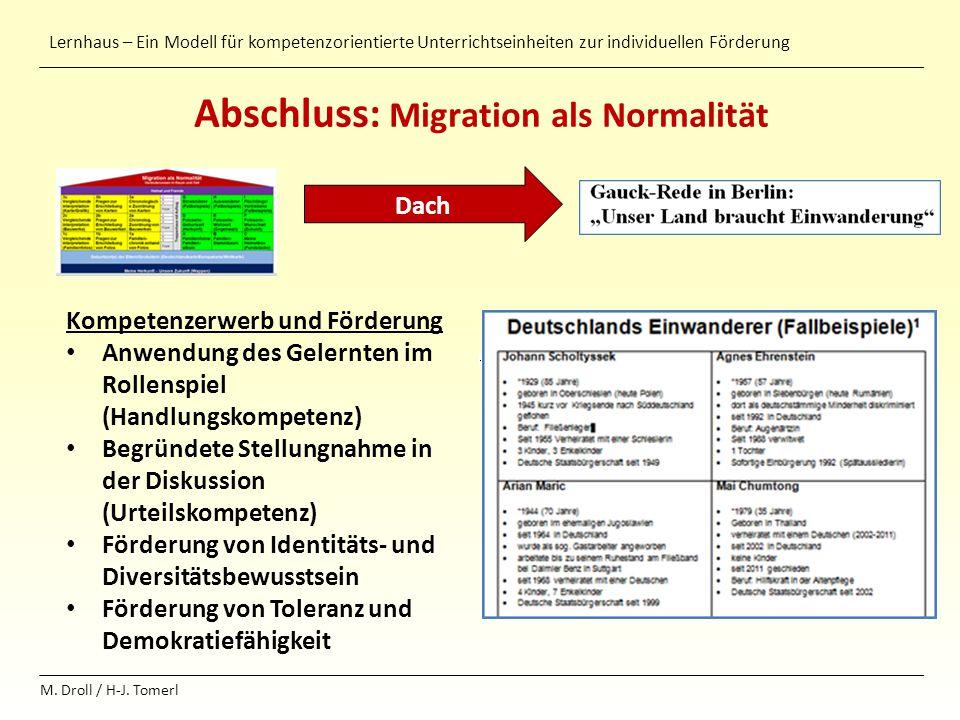 Abschluss: Migration als Normalität