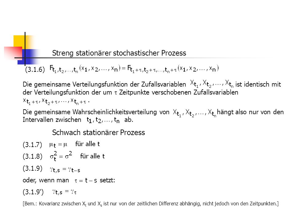 Streng stationärer stochastischer Prozess