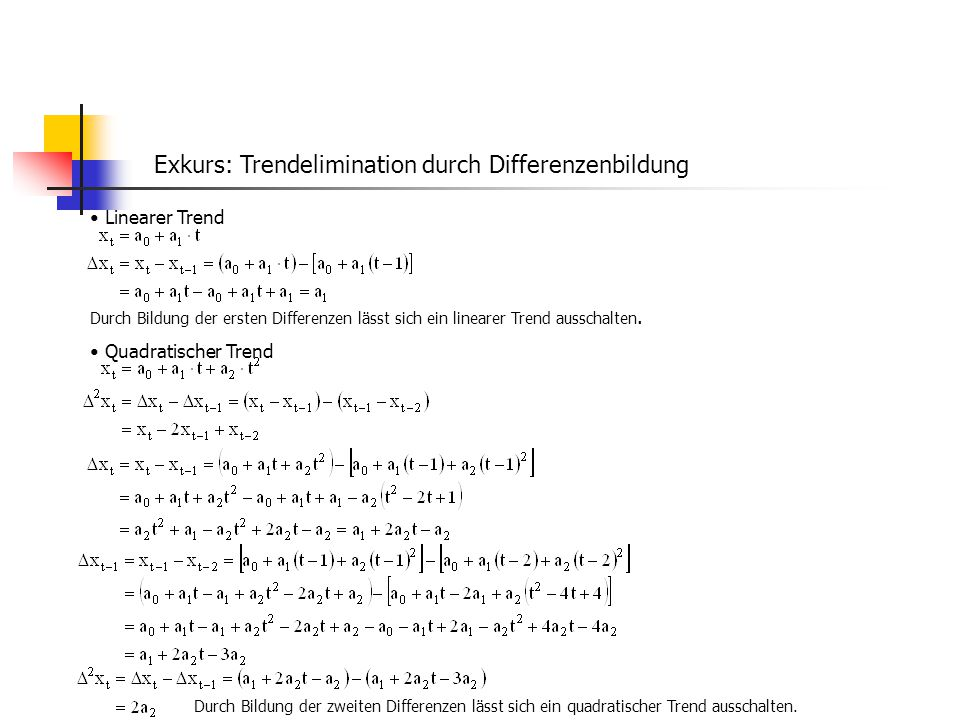 Exkurs: Trendelimination durch Differenzenbildung