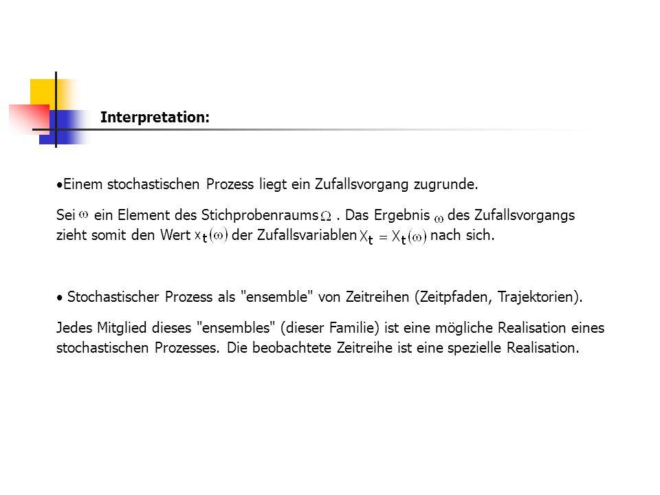 Interpretation: Einem stochastischen Prozess liegt ein Zufallsvorgang zugrunde.