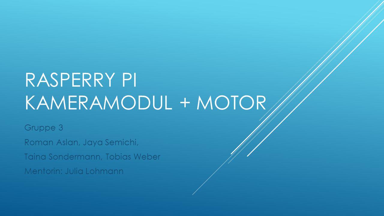 Rasperry Pi Kameramodul + motor