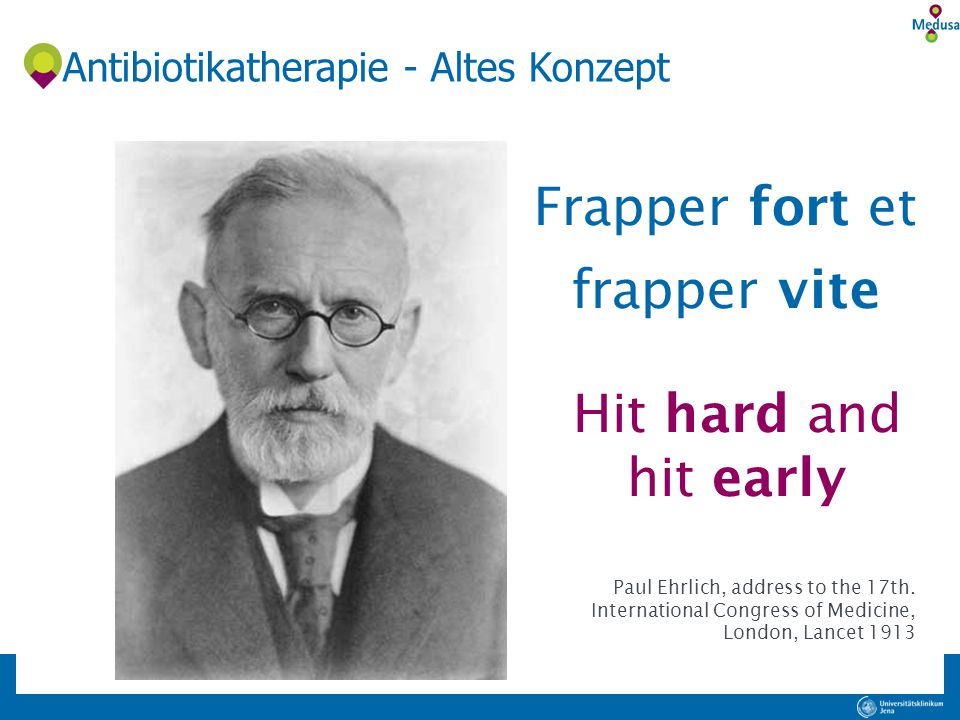 Antibiotikatherapie - Altes Konzept