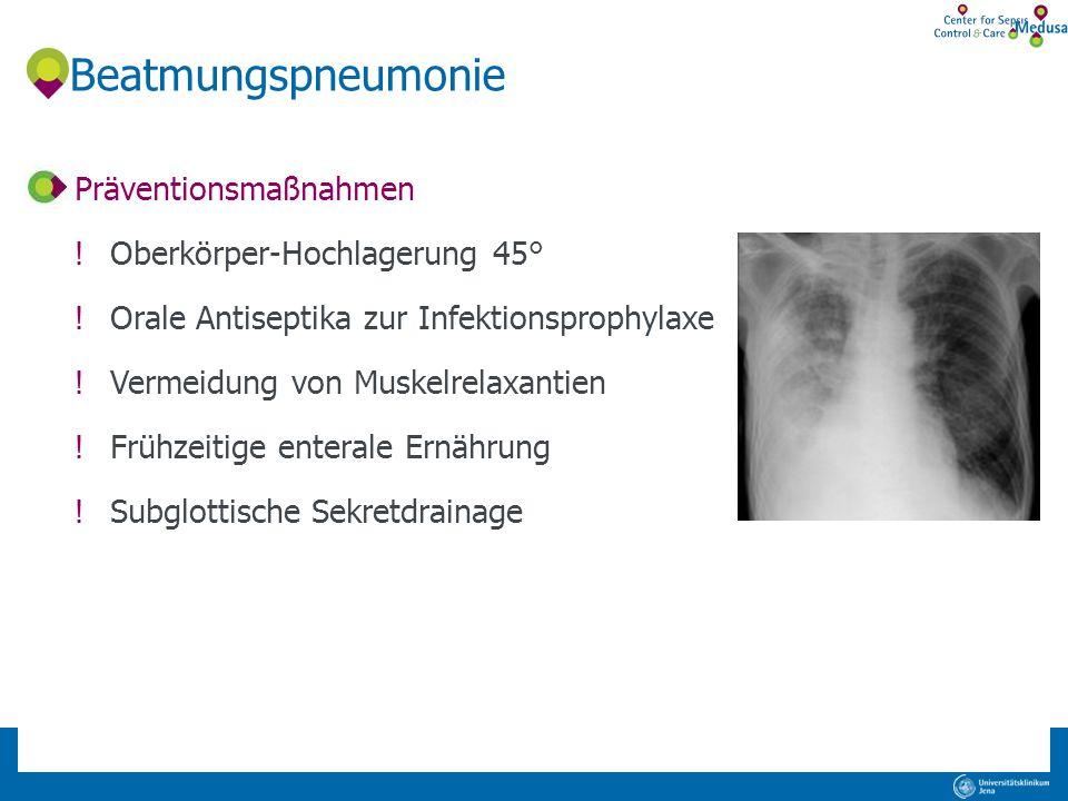 Beatmungspneumonie Präventionsmaßnahmen Oberkörper-Hochlagerung 45°