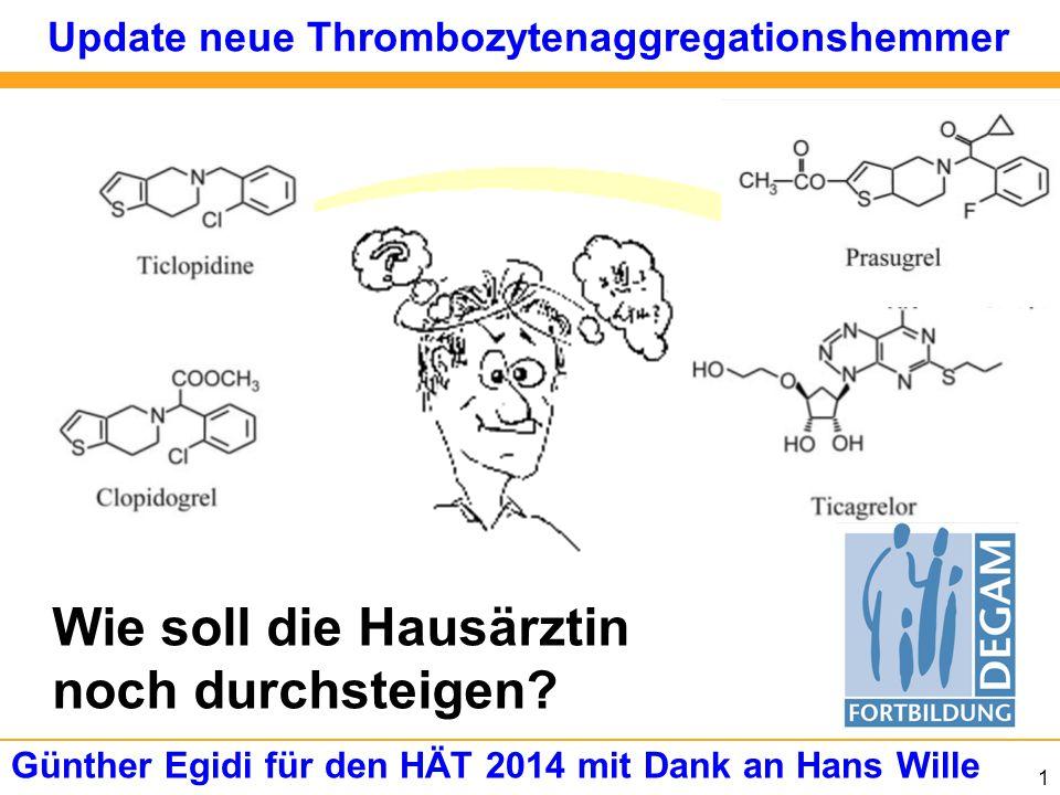 Update neue Thrombozytenaggregationshemmer