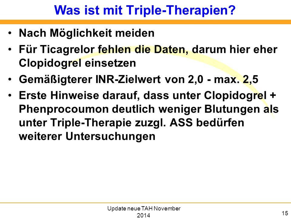 Was ist mit Triple-Therapien