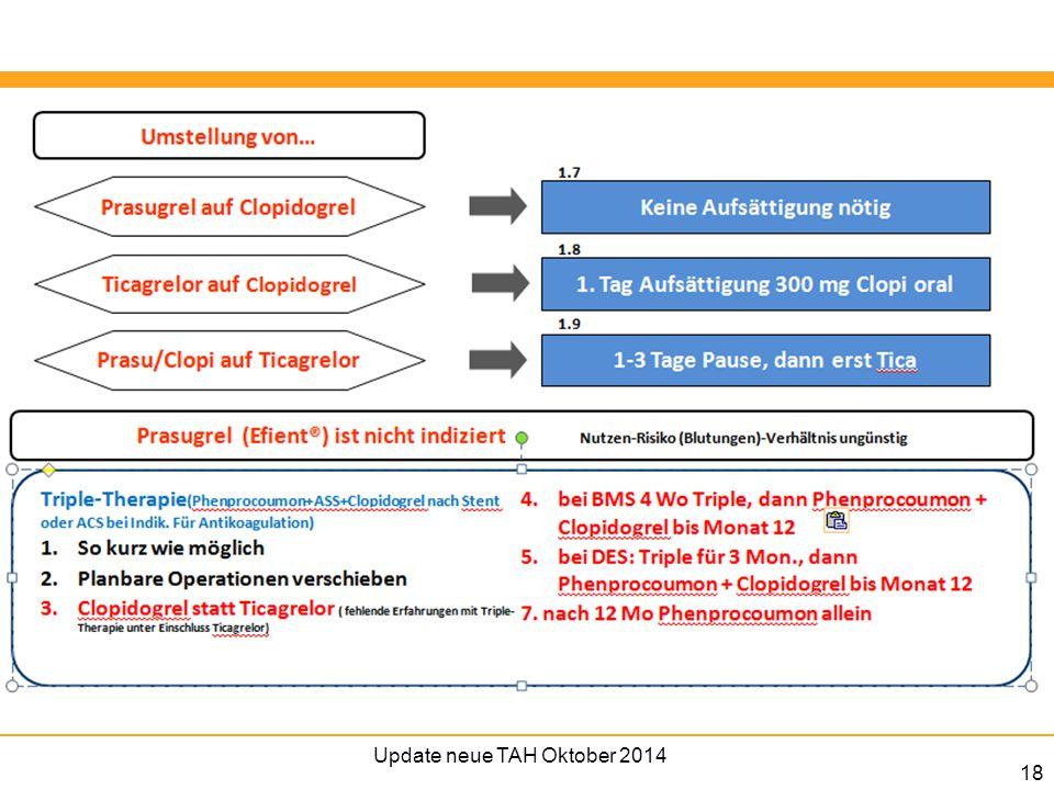Update neue TAH Oktober 2014