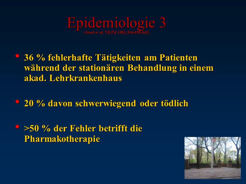Epidemiologie 3 (Steel et al. NEJM 1981;304:638-642)