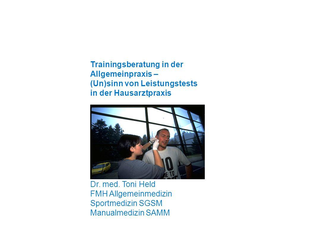 Trainingsberatung in der Allgemeinpraxis –