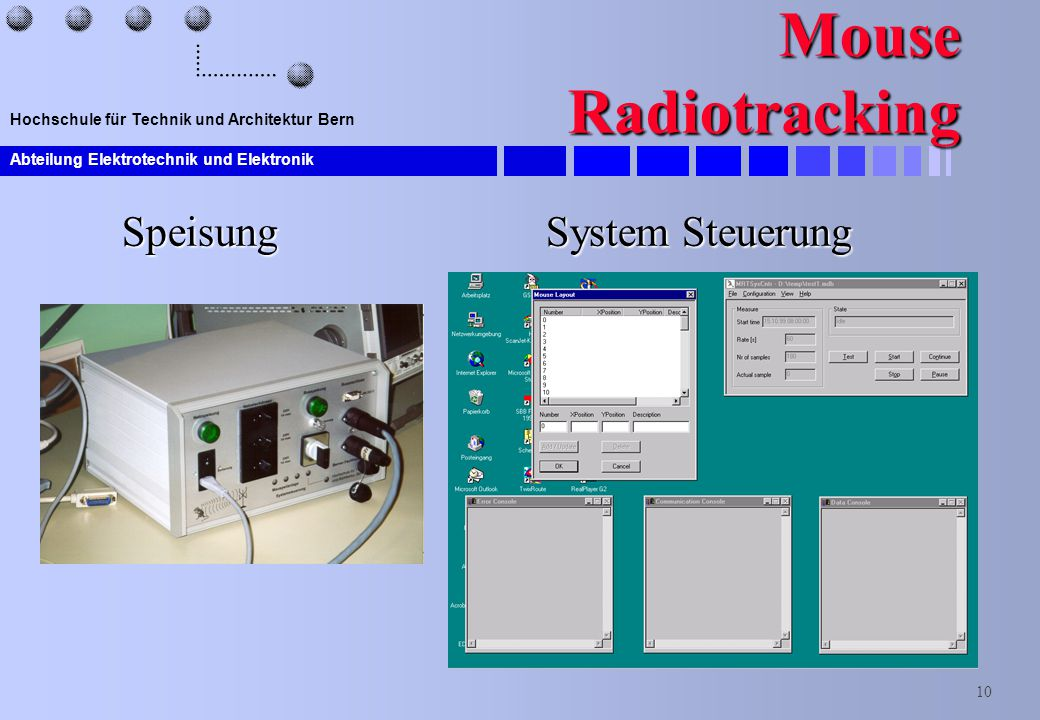Mouse Radiotracking Speisung System Steuerung