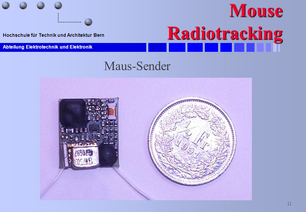 Mouse Radiotracking Maus-Sender