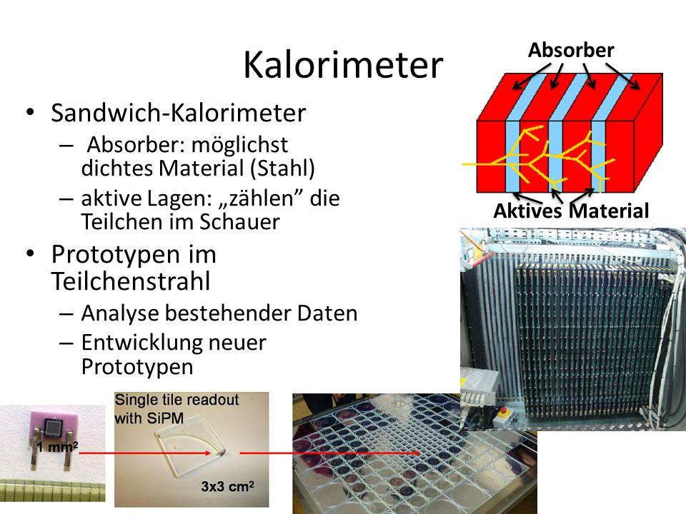 Kalorimeter Sandwich-Kalorimeter Prototypen im Teilchenstrahl