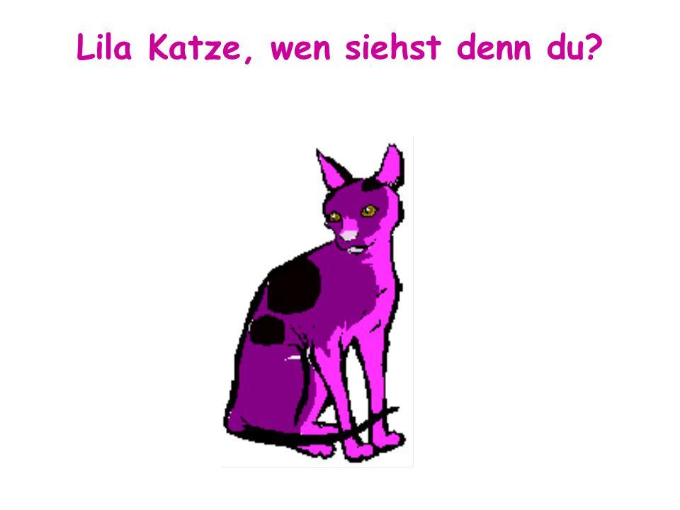Lila Katze, wen siehst denn du