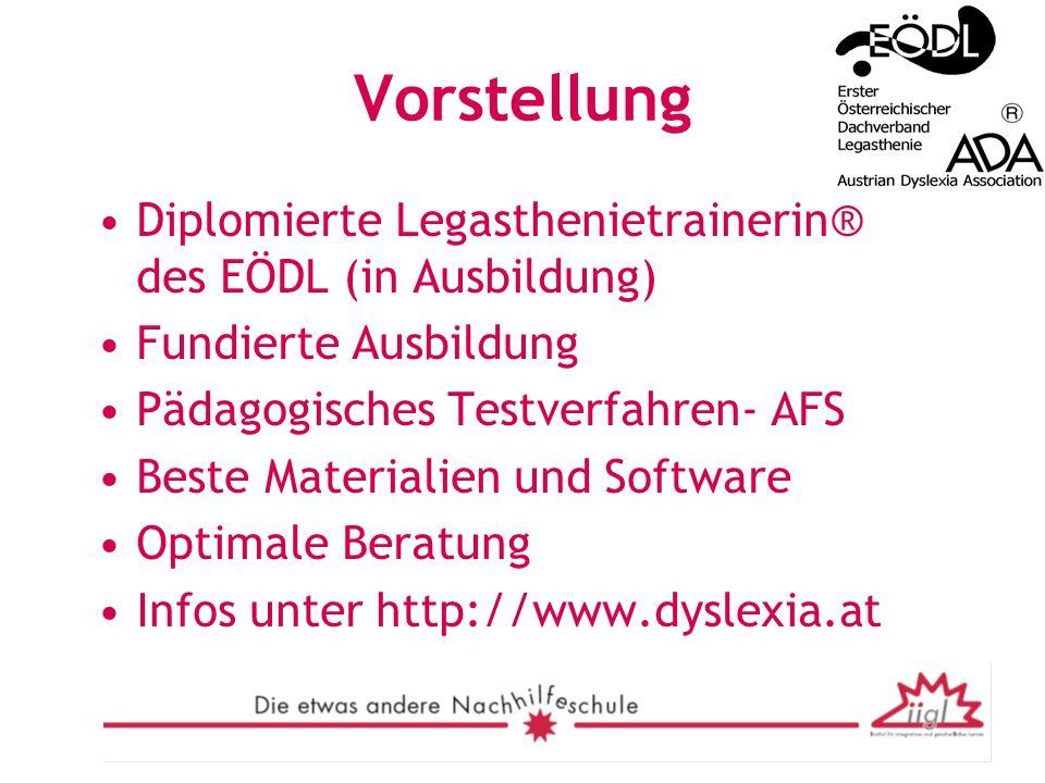 Vorstellung Diplomierte Legasthenietrainerin® des EÖDL (in Ausbildung)
