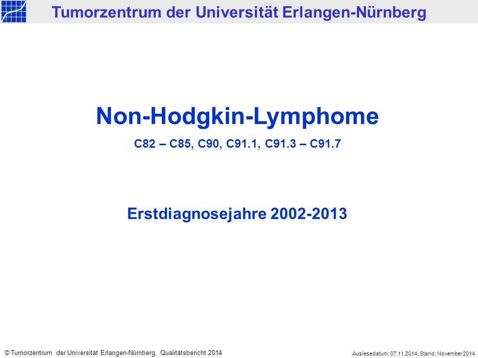 Tumorzentrum der Universität Erlangen-Nürnberg Non-Hodgkin-Lymphome