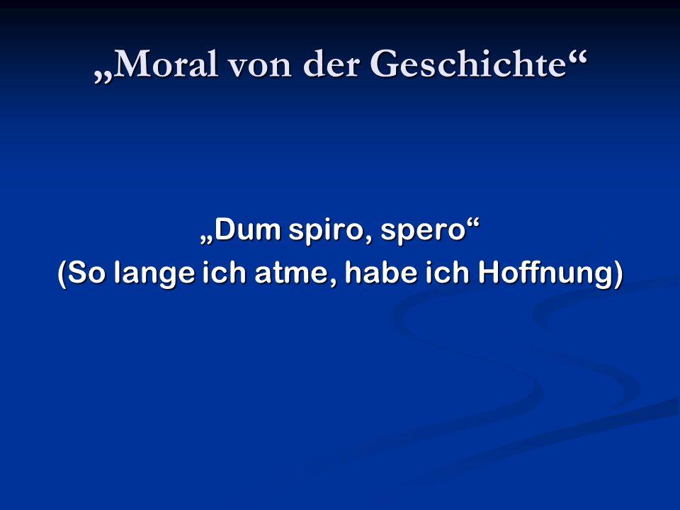 """""""Moral von der Geschichte"""