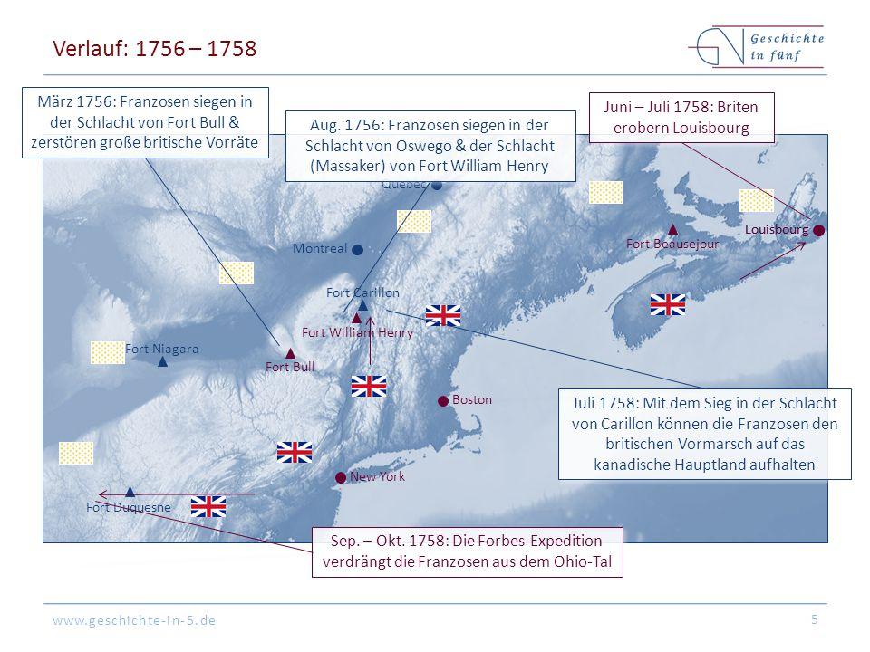 Juni – Juli 1758: Briten erobern Louisbourg