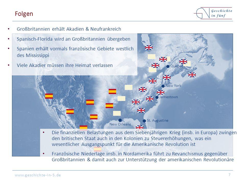 Folgen Großbritannien erhält Akadien & Neufrankreich