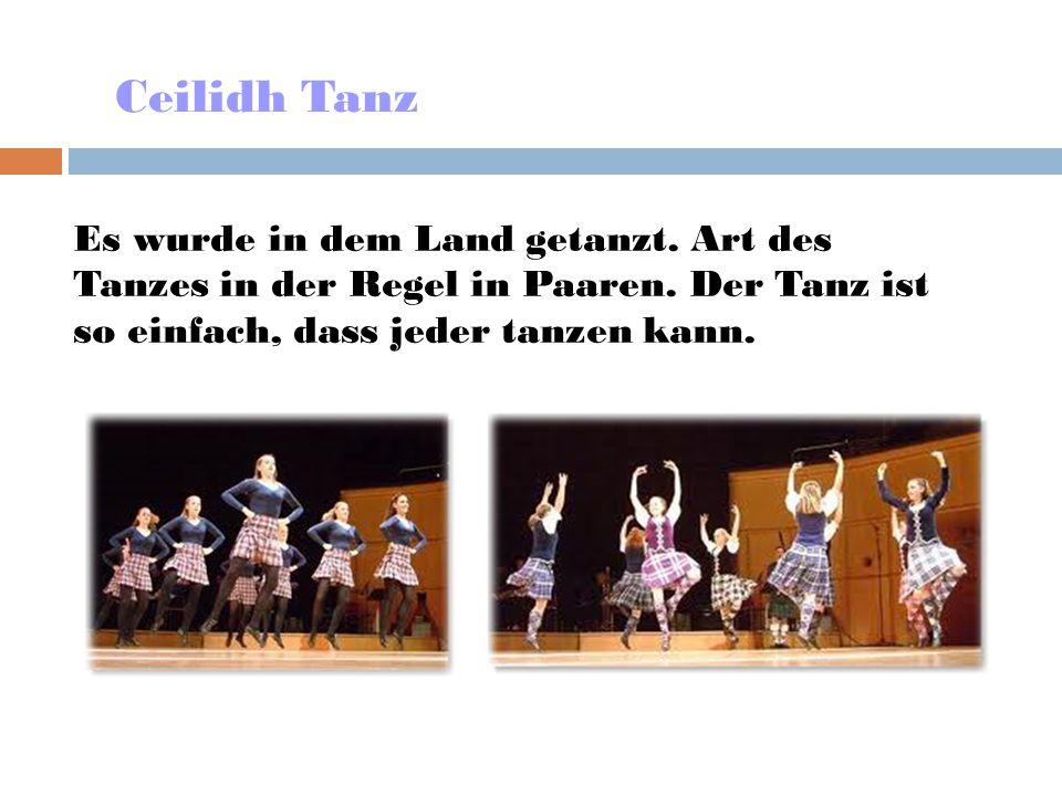 Ceilidh Tanz Es wurde in dem Land getanzt. Art des Tanzes in der Regel in Paaren.