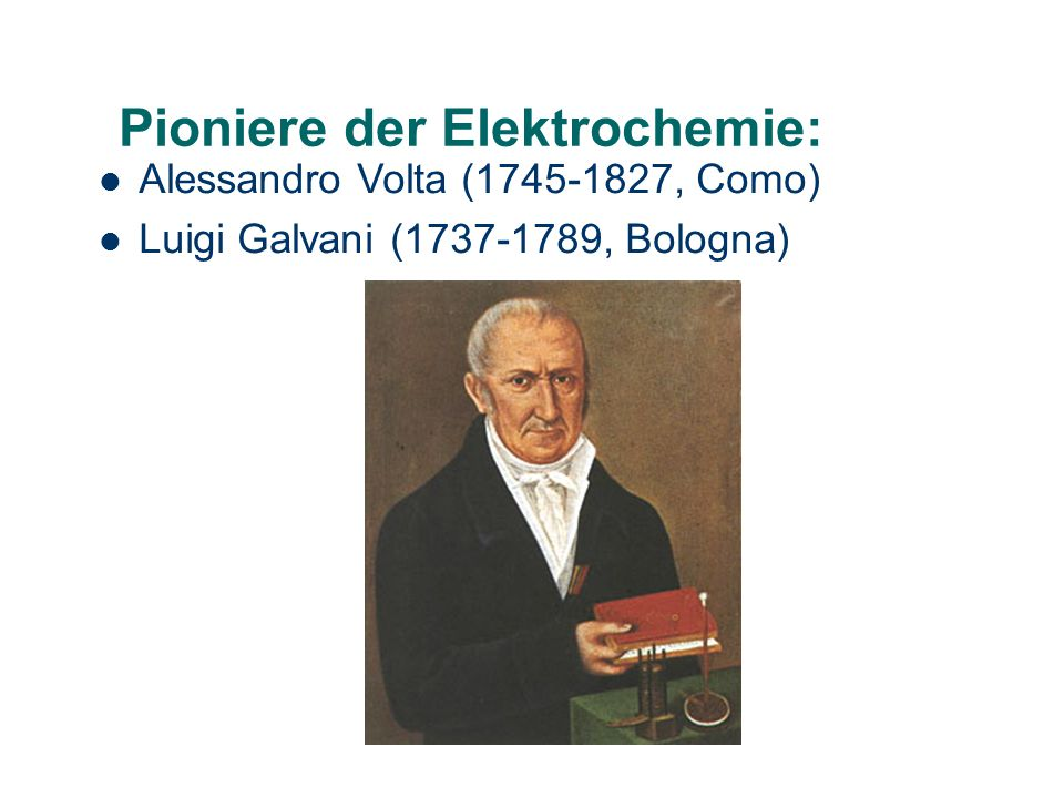 Pioniere der Elektrochemie: