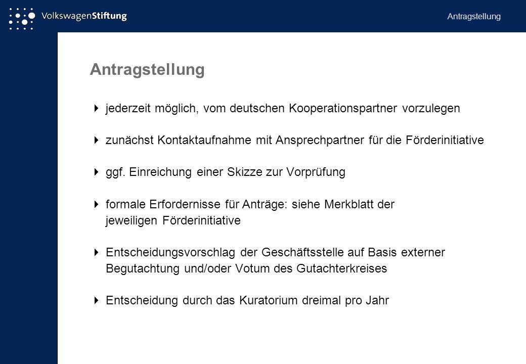 Antragstellung Antragstellung.  jederzeit möglich, vom deutschen Kooperationspartner vorzulegen.