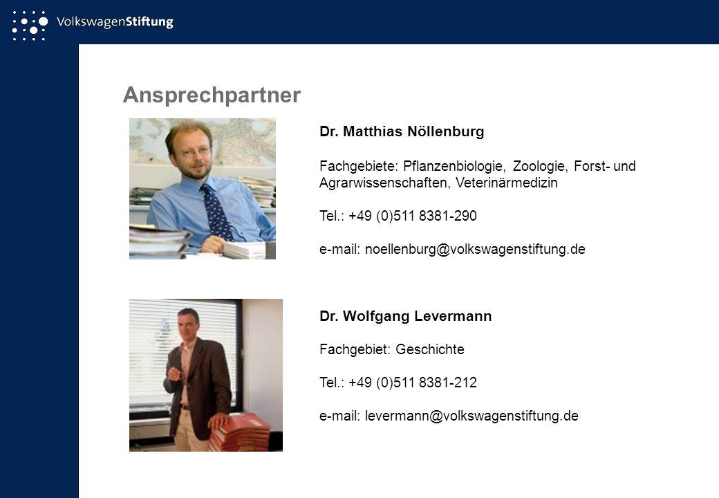 Ansprechpartner Dr. Matthias Nöllenburg Dr. Wolfgang Levermann
