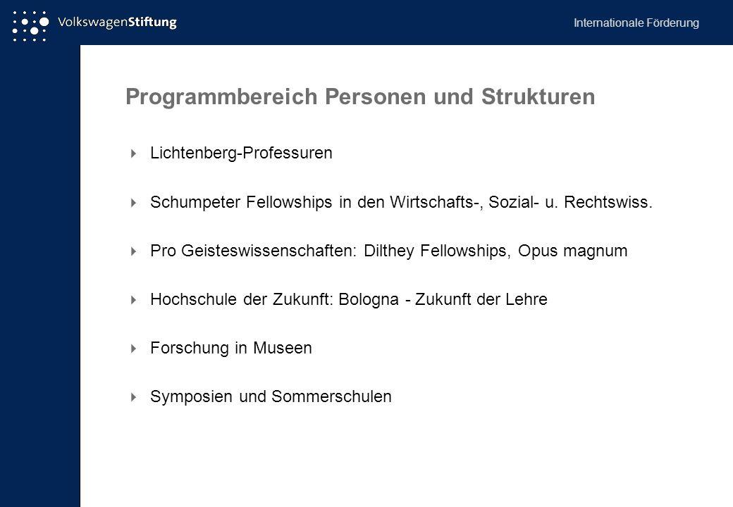 Programmbereich Personen und Strukturen