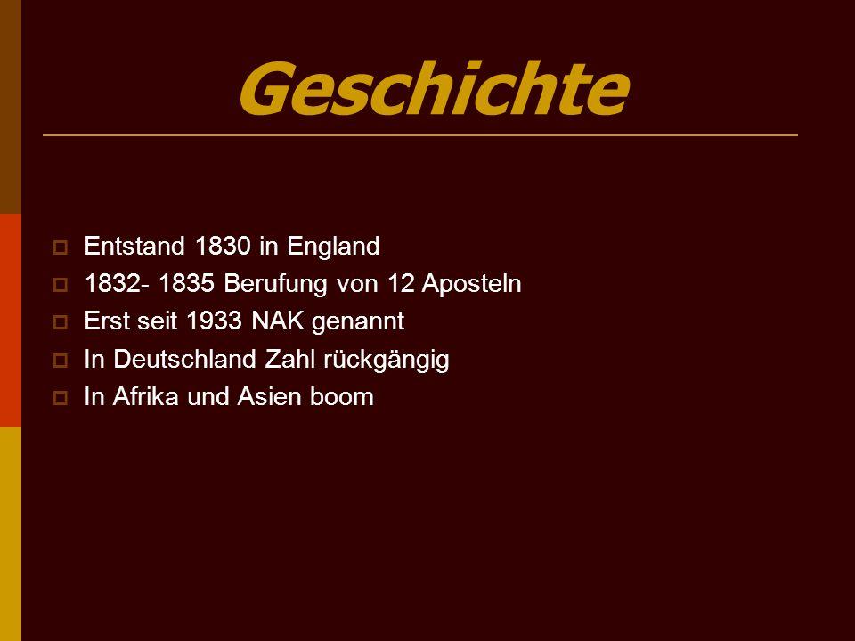 Geschichte Entstand 1830 in England