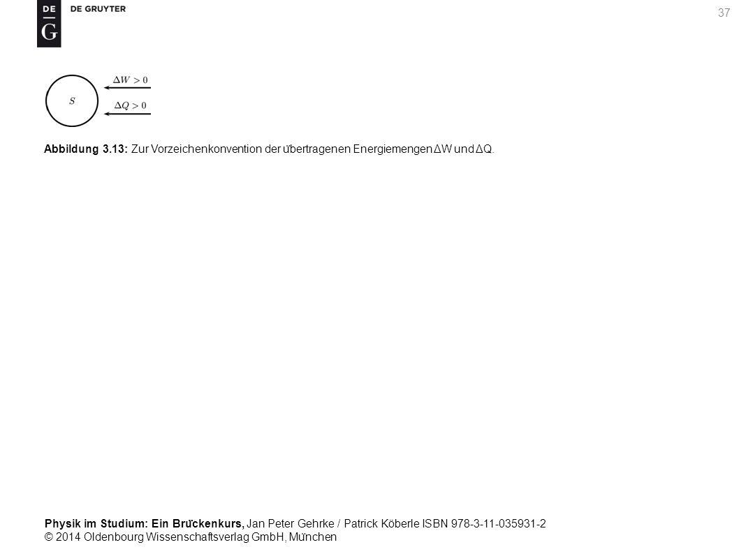 Abbildung 3.13: Zur Vorzeichenkonvention der übertragenen Energiemengen ΔW und ΔQ.