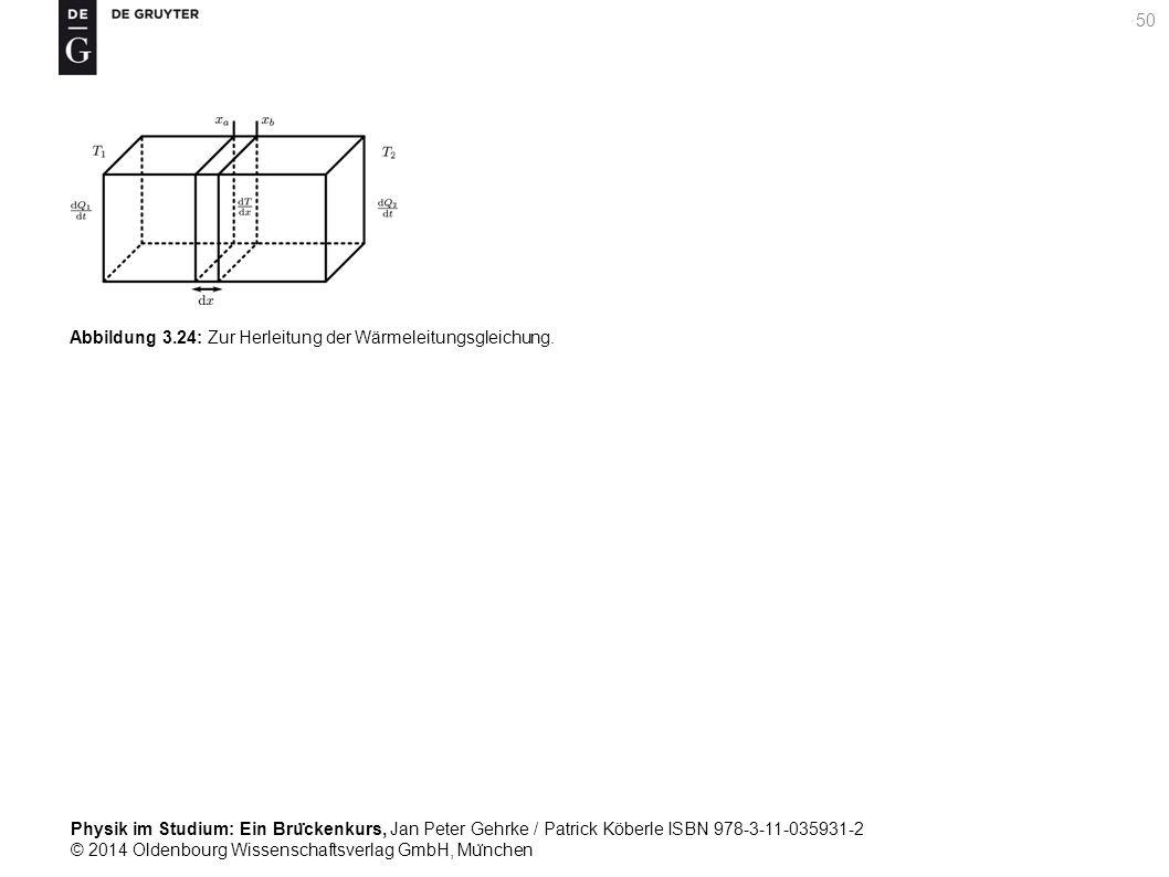 Abbildung 3.24: Zur Herleitung der Wärmeleitungsgleichung.