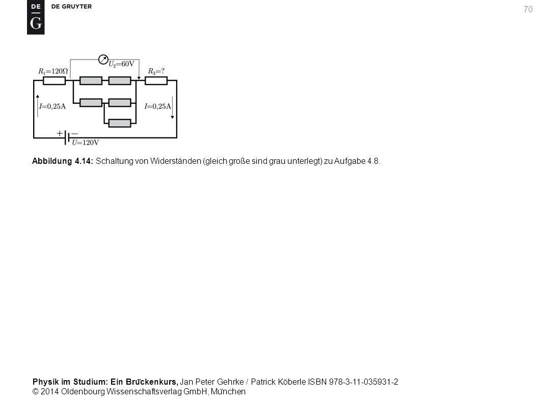 Abbildung 4.14: Schaltung von Widerständen (gleich große sind grau unterlegt) zu Aufgabe 4.8.